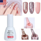 10 ml Rose Gold Glitter UV Gel Nail Polish Sequins Soak Off