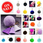 Soft Cute Faux Rabbit Fur Fluffy Pom Ball Tassel Handbag Charm Key Chain Keyring