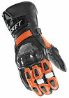 Joe Rocket Black/Orange Mens GPX Leather Gauntlet Motorcycle Gloves