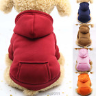 Dogs Clothes Sports Sweater Soft  Hoodie Jumper Coat Puppy Cat Apparel