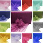 "54"" x 120 feet ORGANZA FABRIC Sheer Transparent DIY Wedding Party Crafts Sewing"