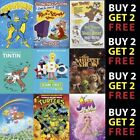 Iconic Classic Kids TV Cartoon Shows From 70s 80s 90s - 300gsm Paper/Card/Plaque