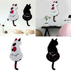 Acrylic Cat Wall Clock Tail Wagging Clock Home Decor Housewarming Xmas Gifts