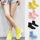Women Breathable Sock Trainers Boots Sneakers High Top Elast