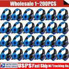 LOT 3.5mm Gaming Headset Mic LED Headphones Stereo Surround for PS3 PS4 PC KJ