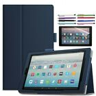 Magnetic Leather Smart Case Cover For Amazon Kindle Fire HD 10 2017 Tablet