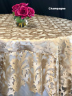Champagne Lace Table cloth or Table Overlay Wedding Sweetheart Table Home Decor
