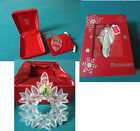 WATERFORD CHRISTMAS ORNAMENTS  VINTAGE NIB ANGEL/ WREATH /CAMEO PRICE FOR EA