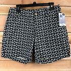 $44 WOMENS BLACK AND WHITE PRINT SHORTS - LEE MIDRISE FIT -