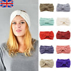 Lady Cute Knot HEAD   Hair  Headwrap Winter Knit Knit Wool HEAD   UK