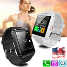 Bluetooth Smart Watch Alarm Clock Wristwatch For Men Women Boys Samsung Xiaomi