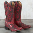 Corral Red and Black Overlay Boots