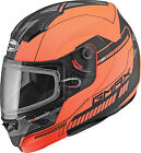 GMAX MD04 HiViz Orange Modular Double Lens Cold Weather Snowmobile Riding Helmet