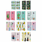 OFFICIAL emoji® CACTUS AND PINEAPPLE LEATHER BOOK CASE FOR SAMSUNG PHONES 1