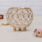 Silver/Gold Crystal Votive Tea Light Gold Diamante Candle Holder Home Party Dec