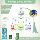 Baby Musical Crib Bed Cot Mobile Light Flash Nusery Lullaby Toy Remote Contorl
