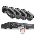 SANNCE 1080P HDMI 5IN1 8CH DVR 720P 1500TVL Outdoor Security Camera System 0-4TB