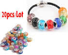 20PCS MIX Big hole Beads fit DIY European charm Bracelet accessories beaded gift