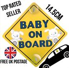 CAR BABY ON BOARD SIGN SUCTION CUPS WINDSCREEN WINDOW VEHICLE SAFETY 1ST SIGN