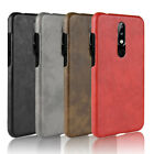 Ultra Slim Hard Skin Pattern Leather Back Case Cover For Nokia 5.1 Plus