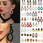 Kyпить Women Boho Geometric Dangle Drop Hook Acrylic Resin Ear Stud Earrings Jewelry на еВаy.соm