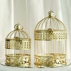 """Gold 13"""" and 9"""" tall Bird Cages Wedding Party Centerpieces Wedding Party Favors"""