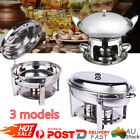 Bain Marie Bow Chafing Dish Stainless Steel Food Buffet Warmer Stackable AU