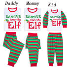USA Family Matching Christmas Pajamas PJS Set Santa Elf Xmas Sleepwear Nightwear