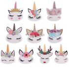 Внешний вид - 10pcs Mini Planar Resin Cute Unicorn Head Kawaii Sleepy Kids Craft Birthday Gift