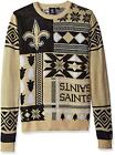 NFL Football New Orleans Saints Ugly Patches Sweater by KLEW - Choose Your Size