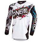 O'Neal Youth White Element Villain Dirt Bike Jersey MX ATV 2019