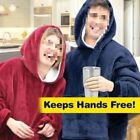 Couple Huggle Hoodie Colthes Plush Blanket Cotton Soft and Warm 2 Colors image