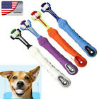 US Pets Dogs Non-slip Chews Toothbrush Teeth Cleaning Three Head Dogs Toothbrush