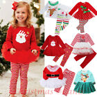 US Christmas Toddler Kid Baby Girl Festival Xmas Party Tutu Dress Outfit Clothes