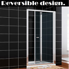Framed Bifold Shower Door Enclosure And Tray 5Mm Safety Glass Screen Free Waste