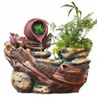 Water Fountain Indoor Potted Succulents Furnishing Rockery Resin Home Decoration