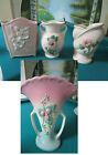 """HULL POTTERY PINK VASES 6"""" - PICK ONE"""
