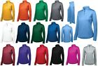 LADIES CLASSIC, SOLID, LONG SLEEVE, MOISTURE WICKING, 1/4 ZIP, PULLOVER, XS-2XL