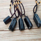 NEW Wholesale Women Men Natural Black Tourmaline Stone Pendant Necklace Specimen