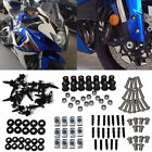 Complete Set Fairing Bolt Kit Body Screws Fasteners For Honda Kawasaki Suzuki $11.89 USD on eBay