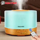 500ml Ultrasonic Humidifier Essential Oil Diffuser Aromatherapy Remote Control