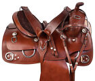 Western Saddle Comfy Horse Leather Training Trail Riding Tack Set 15 17 18