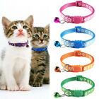 Adjustable Kitten Cat Reflective Breakaway Pet Safety Nylon Collar with Bell
