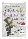 Alice In Wonderland Quotes Living Room Poster Prints Vintage Wall Pictures A4