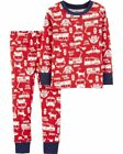 Внешний вид - NEW Carter's 2 Piece PJs Boys Fire Truck Red White Pajamas 2 3 4 5 6 7 8 12 14