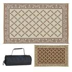 Indoor Outdoor Patio Mat RV Reversible Camping Picnic Carpet Deck Rug Pad