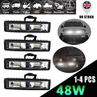 4x Car Truck Led Work Spot Light Flood Driving Bright Bulb Suv 72w 12v 24v 5 In