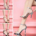Women Ankle Strap Sandals Peep Toe High Heels Gladiator Stilettos Shoes Summer