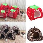 Soft Strawberry Pet  Dog Cat House Kennel Doggy Fashion Warm Cushion Basket