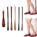 Shell Solid Wooden Shoe Horn Wood Long Handle Shoehorn Lifter Hanging Rope